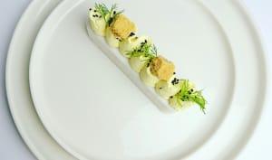 Mousse de merlan et crème au curcuma