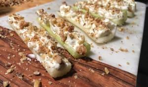 Barquettes de céleri au gorgonzola