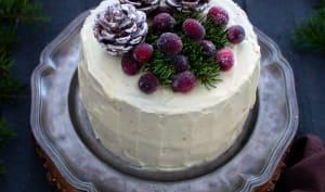 Layer cake cranberries orange