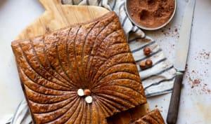 Galette des rois cacao, noisette et praliné