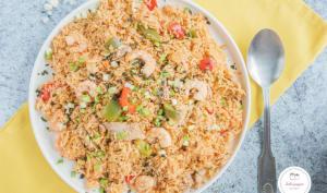 Jambalaya poulet et crevettes