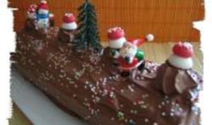 Bûche de Noël à la Mousse Choco-Framboise