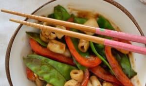 Calamar poêlé aux petits légumes