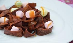 Tagliatelles de crêpes au chocolat