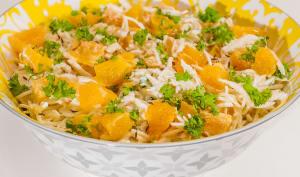 Salade de céleri rave, orange et carvi