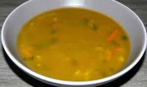 Potage au butternut et ses légumes