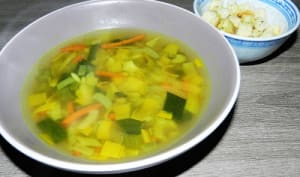 Bouillon de légumes sans viande