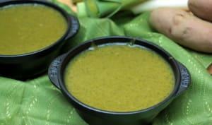 Soupe au vert de poireau et tapioca