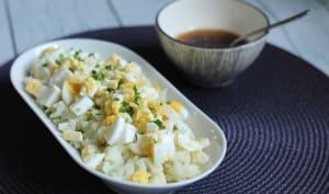 Salade de chou-fleur aux œufs durs