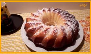 Cake à l'orange sanguine au lait concentré sucré