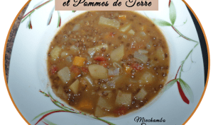 Soupe de lentilles et pommes de terre
