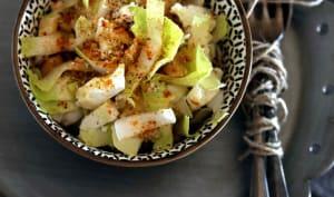 Salade d'endives, tofu et okara