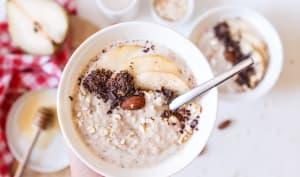 Porridge aux poires et au chocolat