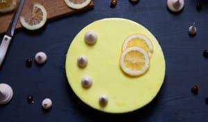 Entremet citron noisette