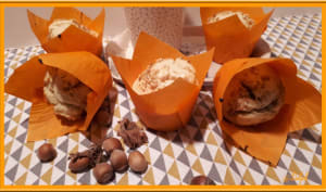 Muffins coeur praliné noisette