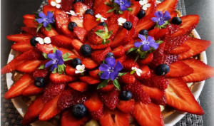 Tarte aux fraises printanière