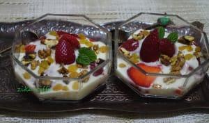 Verrines de fruits au yaourt maison