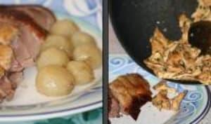 Canard Rôti aux Raisins et sa Fricassée de Pieds de Mouton