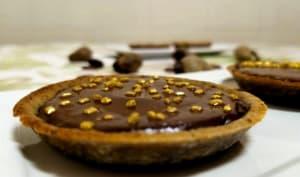 Tarte au chocolat version végétalienne à la biomasse de banane verte