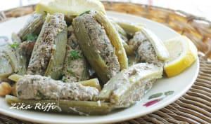 Cardons farcis sauce blanche