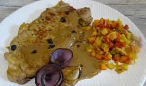 Entrecôtes sauce aux oignons brûlés et ail noir bio blak garlic