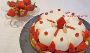 Tarte aux fraises et nougat