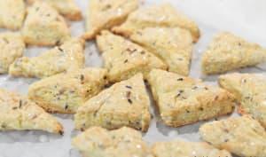 Mini scones citron lavande