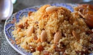 Couscous sucré aux fruits secs Seffa