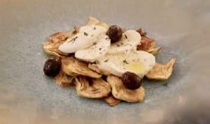 Artichauts poivrade et mozzarella Fior de Latte.
