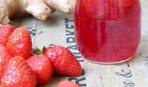 Confiture de fraises au gingembre