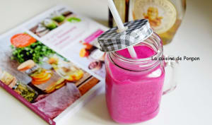 Smoothie betterave rouge et framboise