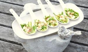 Carpaccio d'asperges vertes au citron caviar