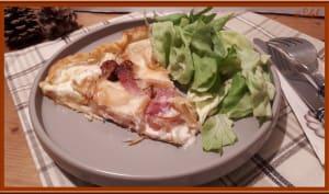 Tarte à la saucisse de Toulouse, Bacon et Fromage à Raclette