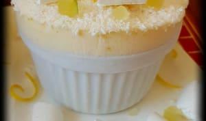 Soufflé glacé citron et noix de coco