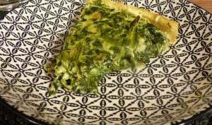 Tarte aux restes de raclettes et épinards