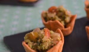 Spicy cups au guacamole