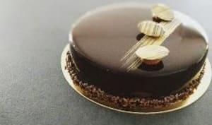 Entremets au chocolat et café doux