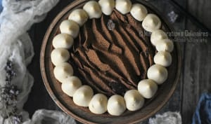 Tarte au chocolat et sa ganache au caramel beurre salé