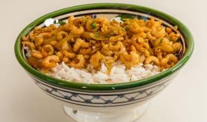 Crevettes au riz