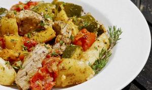 Poulet aux légumes à basse température
