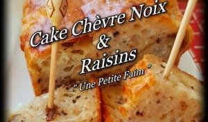 Cake chèvre noix et raisins