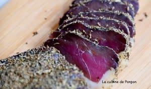 Filet de canard séché aux herbes et épices