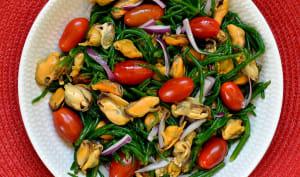 Salade de salicorne et moules