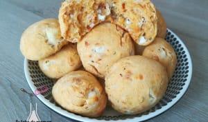 Bouchées briochées aux tomates séchées et feta, au companion ou non