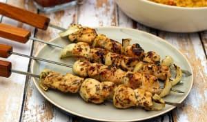 Marinade pour brochettes de poulet au miel et moutarde