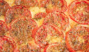 Tarte tomate moutarde au comté