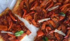 Comme une pizza aux poivrons rouges