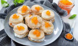 Crackers à la crème de truite