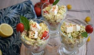 Salade de riz avocat feta