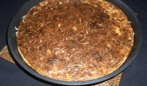 Quiche sans pâte au pesto rosso, poivron et chorizo